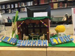 LEGO Sukkah at the Sperber Community Library and Ostrow Academic Library, 2018