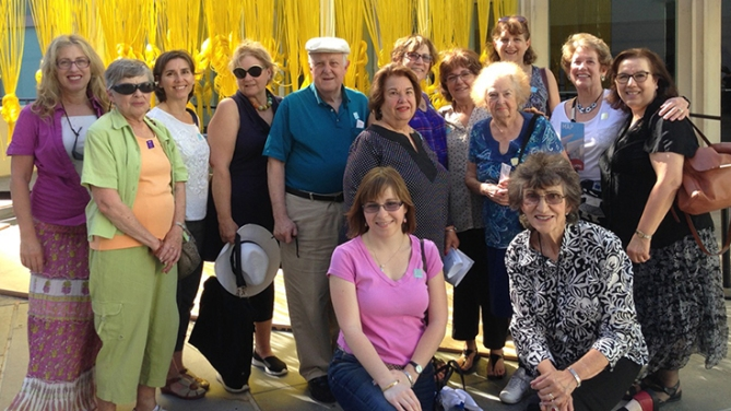 AJLSC members enjoyed a wonderful tour of Jewish artists at the Los Angeles County Museum of Art, led by Bonnie Stark – LACMA Docent and former AJLSC member.